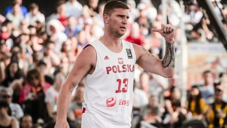 Marcin Sroka na MŚ 3x3 w Amsterdamie fot. FIBA